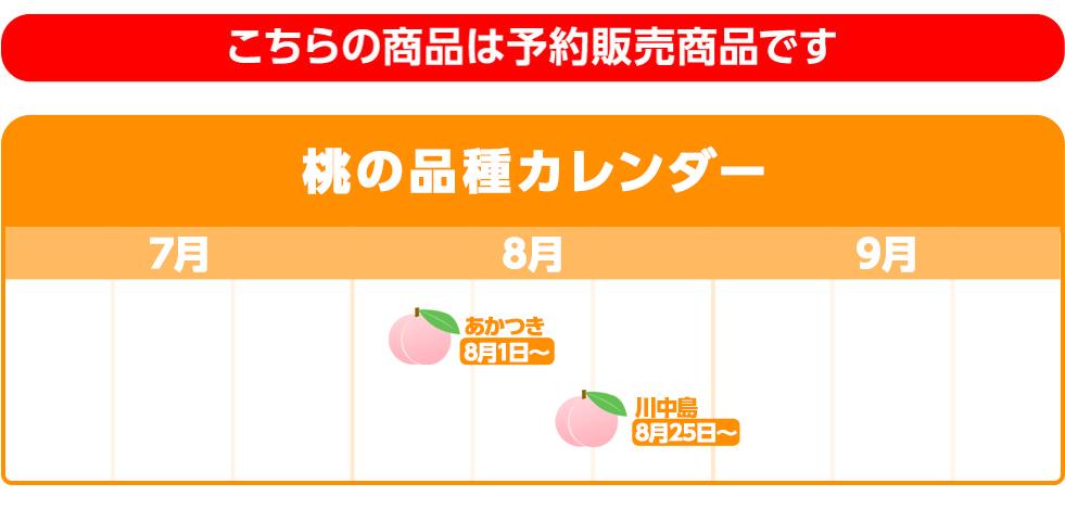 こちらの商品は予約販売商品です 桃の品種カレンダー